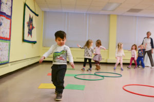 Completing the course in Gross Motor with Ms. Jan