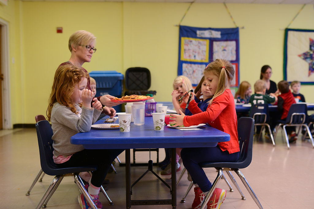 Lunch at The Lab School is Family-Style